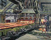 H.D. Tylle - Run Out, Charter Steel, Saukville USA, 03/20/2003, 16 x 20 inch, oil on cardboard