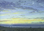 H.D. Tylle - Evening Stroll on the North Sea, Germany, 2004, 20 x 28 inch, oil/canvas