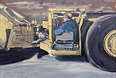 H.D. Tylle - Scoop Driver, on-site painting, 11 x 16 inch, oil on cardboard