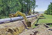 H.D. Tylle - Pipeline Construction, Michels Corp., Michels Brownsville, USA, 2005, 30 x 43 inch, oil/canvas