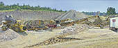 H.D. Tylle - Crushing Plant, Michels Corp., Michels Brownsville, USA, 2005, 35 x 71 inch, oil/canvas