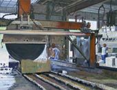 H.D. Tylle - Stone Cutting, Michels Corp., Michels, Brownsville USA, 2006, 28 x 35 inch, oil/canvas