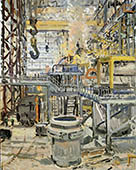 H.D. Tylle - EAF-Shop, Charter Steel, Cleveland, OHIO, USA, 10/24/2006, 20 x 16 inch, oil on cardboard