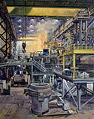 H.D. Tylle - EAF-Shop, Charter Steel, Charter Steel, Cleveland, OHIO, USA, 2007, 55 x 43 inch, oil/canvas