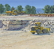 H.D. Tylle - Knauf - Gypsum Quarrying near Markt Nordheim, Markt Nordheim, Germany, 2009, 43 x 47 inch, oil/canvas<br><a  style=&#34;color:#969&#34;  href=&#34;mailto:info@tylle.de?subject=price inquiry: 1182  Knauf - Gypsum Quarrying near Markt Nordheim&#34;>price inquiry</a>