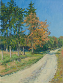 H.D. Tylle - Autumn near Meensen, Germany, 10/11/2010, 16 x 12 inch, oil on cardboard<br><a  style=&#34;color:#969&#34;  href=&#34;mailto:info@tylle.de?subject=price inquiry: 1210  Autumn near Meensen&#34;>price inquiry</a>