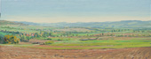 H.D. Tylle - Panorama near Meensen, Germany, 10/11/2010, 8 x 20 inch, oil on cardboard<br><a  style=&#34;color:#969&#34;  href=&#34;mailto:info@tylle.de?subject=price inquiry: 1211  Panorama near Meensen&#34;>price inquiry</a>