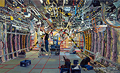 H.D. Tylle - A380 Technical Equipment Assembly, Airbus, Hamburg, 2011, 43 x 71 inch, oil/canvas<br><a  style=&#34;color:#969&#34;  href=&#34;mailto:info@tylle.de?subject=price inquiry: 1221  A380 Technical Equipment Assembly&#34;>price inquiry</a>