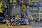H.D. Tylle - Walker Forge, Walker Forge, Clintonville WI USA, 2012, 31 x 47 inch, oil/canvas