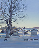 "H.D. Tylle - Cemetery near Cederburg, Wi, USA, 2012, 22 x 18 inch, oil/canvas<br><a  style=""color:#969""  href=""mailto:info@tylle.de?subject=price inquiry: 1246  Cemetery near Cederburg"">price inquiry</a>"