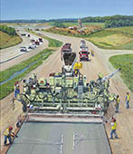 H.D. Tylle - Highway Paving, Michels, Brownsville, WI USA, 2013, 45 x 39 inch, oil/canvas