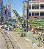 H.D. Tylle - River Point Chicago, Michels, Brownsville, WI USA, 2013, 45 x 39 inch, oil/canvas