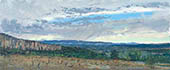 "H.D. Tylle - Luberon mit Regenwolken, Provence, France, 09/29/2013, 12 x 24 inch, oil on cardboard<br><a  style=""color:#969""  href=""mailto:info@tylle.de?subject=price inquiry: 1276  Luberon mit Regenwolken"">price inquiry</a>"