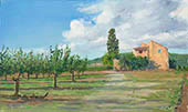 H.D. Tylle - Near Les Redons, Provence, France, 10/05/2013, 12 x 20 inch, oil on cardboard