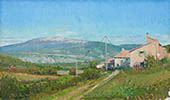 H.D. Tylle - Mont Ventoux, Provence, France, 10/11/2013, 12 x 20 inch, oil on cardboard