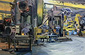 H.D. Tylle - Study #1, Walker Forge, Clintonville, WI, USA, 02/12/2015, 16 x 24 inch, oil on cardboard
