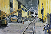 H.D. Tylle - The East Side Access project #2, New York, NY, USA, 02/18/2015, 16 x 24 inch, oil on cardboard<br><a  style=&#34;color:#969&#34;  href=&#34;mailto:info@tylle.de?subject=price inquiry: 1328  The East Side Access project #2&#34;>price inquiry</a>