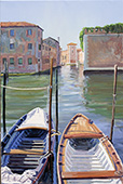 H.D. Tylle - Rio della Vergini, Venice, 2015, 30 x 20 inch, oil/canvas<br><a  style=&#34;color:#969&#34;  href=&#34;mailto:info@tylle.de?subject=price inquiry: 1333  Rio della Vergini&#34;>price inquiry</a>