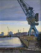 H.D. Tylle - Old crane in the Harbour of Hamburg, Hamburg, 2015, 22 x 28 inch, oil/canvas