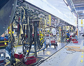 H.D. Tylle - Final Assembly Velaro D, Siemens AG Krefeld, Germany, 2016, 35 x 45 inch, oil/canvas<br><a  style=&#34;color:#969&#34;  href=&#34;mailto:info@tylle.de?subject=price inquiry: 1353  Final Maintenance&#34;>price inquiry</a>