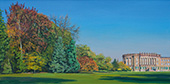 H.D. Tylle - Autumn Mood with Wilhelmsh&ouml;he Palace, Kassel, Germany, 2018, 20 x 39 inch, oil/canvas<br><a  style=&#34;color:#969&#34;  href=&#34;mailto:info@tylle.de?subject=price inquiry: 1370  Autumn Mood with Wilhelmsh&ouml;he Palace&#34;>price inquiry</a>