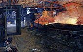 H.D. Tylle - Runoff the Blast Furnace, 1985, 55 x 87 inch, oil/canvas