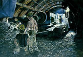 H.D. Tylle - Tunneling, 1984, 71 x 102 inch, oil/canvas