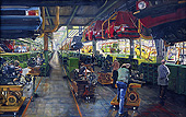 H.D. Tylle - Golf 1 - Assembly, VW, Wolfsburg Germany, 1980, 61 x 94 inch, oil/canvas
