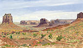 "H.D. Tylle - Monument Valley, Utah, USA, 07/26/1996, 12 x 20 inch, oil on cardboard<br><a  style=""color:#969""  href=""mailto:info@tylle.de?subject=price inquiry: 556  Monument Valley"">price inquiry</a>"