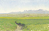 H.D. Tylle - Hroastunga, Iceland, 08/09/1990, 10 x 16 inch, oil on cardboard<br><a  style=&#34;color:#969&#34;  href=&#34;mailto:info@tylle.de?subject=price inquiry: 660  Hroastunga&#34;>price inquiry</a>