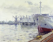 H.D. Tylle - Arctic Fox, Hamburg, 06/13/1997, 16 x 20 inch, oil on cardboard