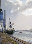 H.D. Tylle - Yala Navee, Singapore, Hamburg, 1997, 47 x 35 inch, oil/canvas