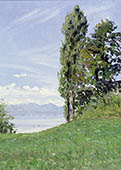 H.D. Tylle - Chiemsee, Aschau, 06/20/1998, 16 x 12 inch, oil on cardboard