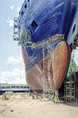 H.D. Tylle - HDW-Shipyard, 07/08/1998, 24 x 16 inch, oil on cardboard