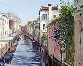 H.D. Tylle - View from Ponte Molin, Venice, 03/17/2000, 16 x 20 inch, oil on cardboard