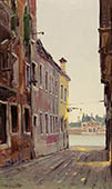H.D. Tylle - View to the Cemetery, Venice, 03/24/2000, 20 x 12 inch, oil on cardboard