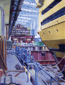 H.D. Tylle - Dorolonda, Meyer Shipyard, Papenburg Germany, 2001, 79 x 55 inch, oil/canvas