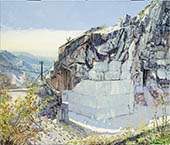 H.D. Tylle - Marble Quarry, Omya, Carrara Italy, 2002, 41 x 35 inch, oil/canvas
