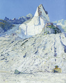 H.D. Tylle - Marble Quarry, Omya, Italy, 2002, 39 x 31 inch, oil/canvas