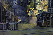 H.D. Tylle - Steel Plant, Peine Salzgitter, Germany, 2002, 31 x 47 inch, oil/canvas