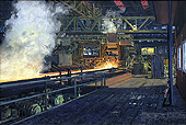 H.D. Tylle - Rolling Mill, Peine Salzgitter, Germany, 2002, 31 x 47 inch, oil/canvas