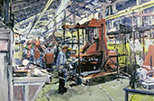 H.D. Tylle - Foundry Bay, ACECO, Milwaukee, USA, 05/13/2002, 16 x 24 inch, oil on cardboard