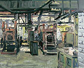 H.D. Tylle - Permanent Mold Machines, ACECO, Milwaukee, USA, 05/13/2002, 16 x 20 inch, oil on cardboard
